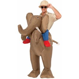 Déguisement chasseur sur éléphant homme