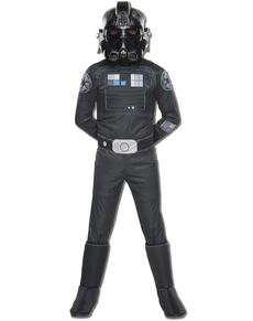 Costume pilote chasse TIE Star Wars Rebels deluxe enfant